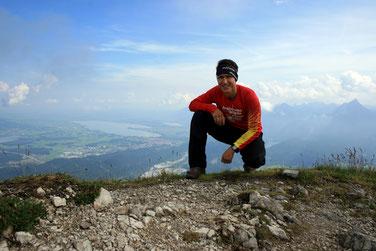 Steffen auf dem Gipfel des Vilser Kegel. Kraft tanken für die Seele!