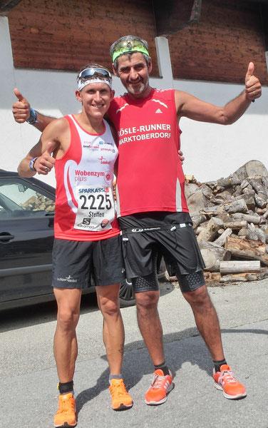 Edi und Steffen zufrieden nach dem Lauf.