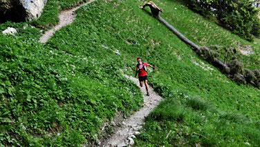 Trailrun auf awesome trails ... Steffen genießt die ruhige Zeit!