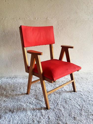 Fauteuil chaise bridge chêne
