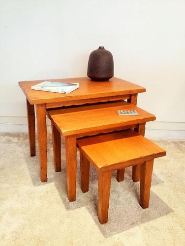 Tables gigognes brutalistes vintage