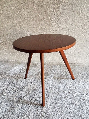Table basse compas tripode vintage