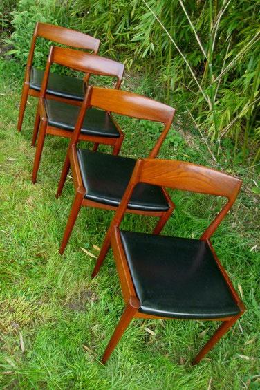 Série de chaises scandinaves vintage