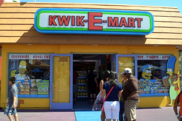 Universal Studios, Simpsons, Florida, Springfield, Kwik-E-Mart, USA