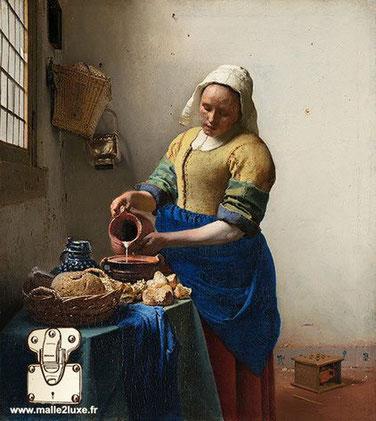 Het melkmeisje - Une servante versant du lait - Vermeer