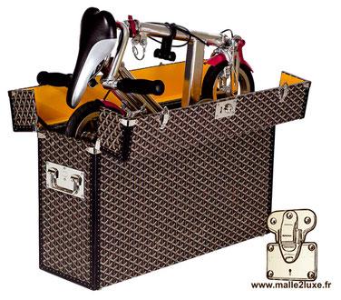 Goyard bicycle trunk