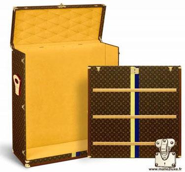 malle ouverte pour tableau transport d'objet de collection Louis Vuitton