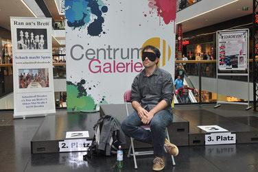 Schach im Centrum, Dresden, Blindschach mit Christian Bauer