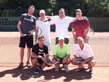 oben von links nach rechts: Daniel Kliewe, Rainer Stratbücker, Stephan Baumeister, Sebastian Kuilder, Unten von links nach rechts: Matthias Möller, Michael Schultenkamp, Thomas Möller