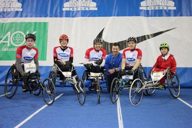 """Das Team vor dem Rennen mit unserem """"Stammbetreuer"""" Andreas"""