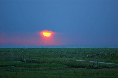 Sonnenuntergang über dem Japsand