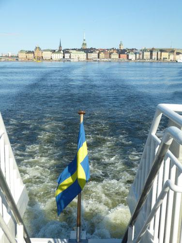 Gamla Stan in Stockholm vom Wasser aus