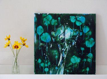 One Day After, 150 x 80 cm, Zeichentusche / Leinwand, 2012, VERKAUFT