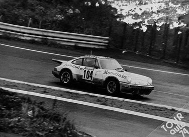 911 460 9087 Defense Mondiale Porsche 911 3.0l RS Almeras, Claudio Roddaro, Tour de France Automobile 1974