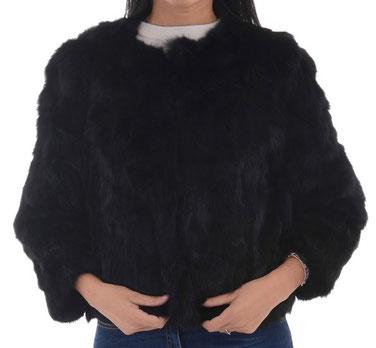 giacca-lapin-nero-pellicia