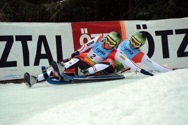 Auf dem Bild Christoph und Thomas Knauder bei den offenen Tiroler Meisterschaften in Umhausen / Tirol (Foto: Sobe)