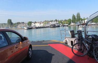 Approdo dei traghetto a Konstanz
