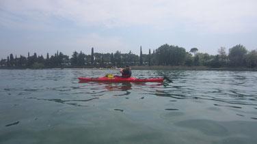 Monika´s erster Ausflug mit Kajak