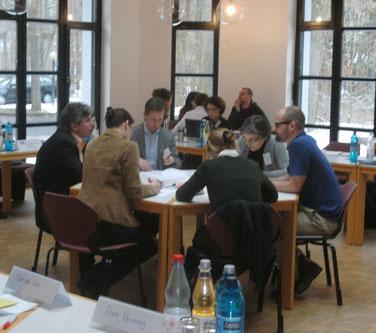 Workshop-Arbeit 2013 (ganz links Prof. Müller)