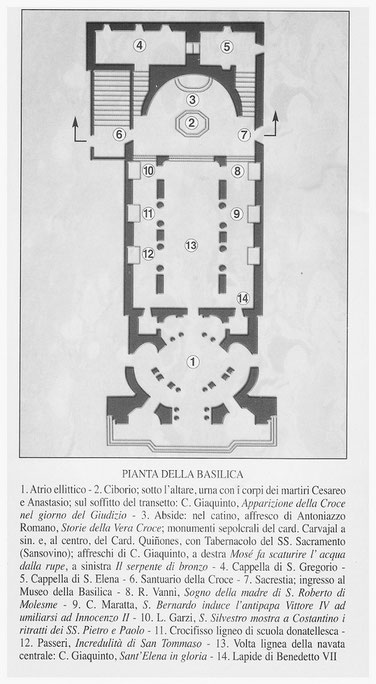 Pianta della Basilica di Santa Croce in Gerusalemme