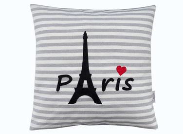 Kissen 40x40 Paris Eiffelturm