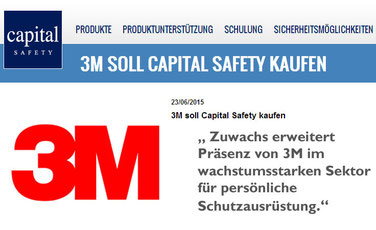 Capital Safety als Zuwachs für 3M