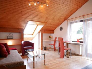 Wohnzimmer Ferienwohnung Gästehaus Gaby Bad Bellingen