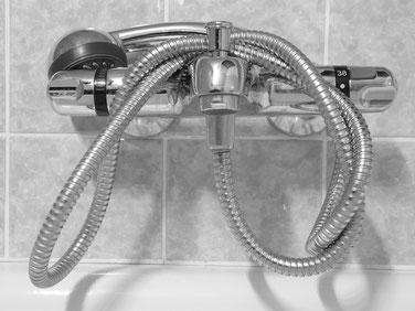 duschen im Winter