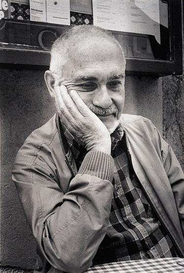 Kuno Raeber an den Solothurner Literaturtagen, 1989. Foto: Yvonne Böhler