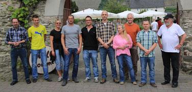 v.l.n.r.: Harald Knebel, Martin Paasch, [Katja Hohl], Thorsten Hohl, Sascha Kirstges, Hendrik Schwarz, Katharina Knebel, Jürgen Trampert, Jan Castell, Wolfgang Gensmann