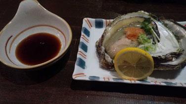 ひょうたんの殻付き牡蠣