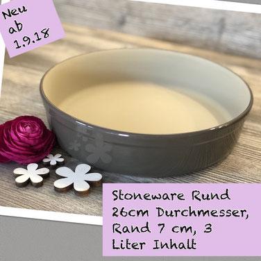 Runde Stoneware- Form aus Ton von Pampered Chef