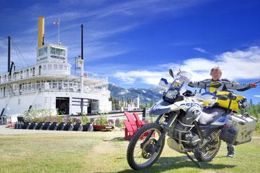 Einst fuhren Raddampfer den Yukon hinauf bis nach Dawson City.