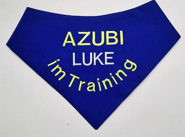 Halstuch, Hundehalstuch , Azubi, im Training, Ausbildung