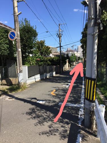 アクセス 仙台二高グランドを右に直進