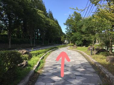 アクセス 歩道を仙台二高へ向かい直進する