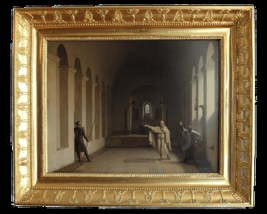 Jacques de Molay, Maître des Templiers. Fleury-François Richard (1806). Huile sur toile, H.41cm, L.53cm. © TEMPLE DE PARIS.