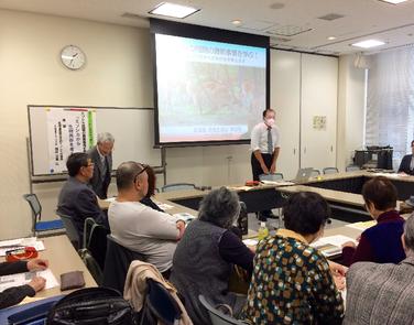 エゾシカ対策課の福田氏を迎えエゾシカ問題について懇談の写真