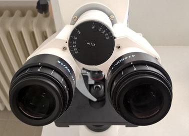 Réglage tête binoculaire document Claude Gonon Microscopie