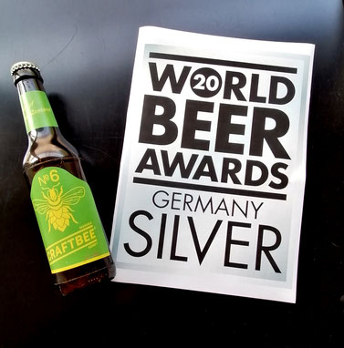 World Beer Awards 2020 Germany Silver for Craftbee N°6
