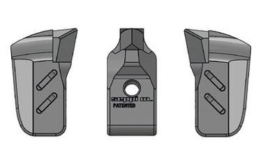 Kombination aus MONO TIP V-LOCK und seitlichen MONO EXTREME V-LOCK (L/R) Werkzeugen für SEPPI M. STARFORST hyd