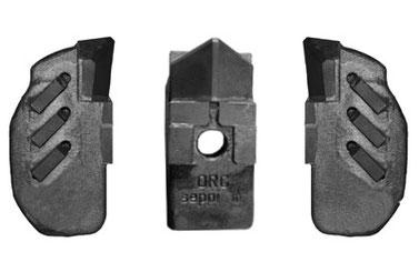 Kombination aus MONO PROTECT und MONO EXTREME (L/R) Werkzeugen für SEPPI M. Steinbrecher MIDISOIL dt