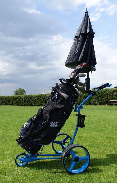 Bild: Yorrx Golftrolley FuNky Blue