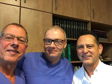 von links.: OP-Leiter Ludger Schnieder, Dr. Schewe und Dr. Sommerfeld