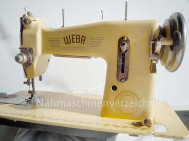 WEBA 510, Flachbett-Geradestich-Haushaltsnähmaschine, Fußantrieb, Motornachrüstung mögl., 1953, WEBA-Werke KG, Ober-Ramstadt (Bilder: R. Reinmöller)