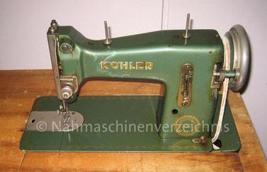 WEBA 510, Flachbett-Geradestich-Haushaltsnähmaschine, Fußantrieb, Motornachrüstung mögl., 1953, WEBA-Werke KG, Ober-Ramstadt (Bilder: Nähmaschinenverzeichnis)