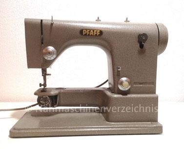 Vermutlich Prototyp der Pfaff 81, Geradstich, Freiarm-Haushaltsnähmaschine, Einbaumotor, Hersteller: G. M. Pfaff AG, Kaiserslautern Karlsruhe, gebaut in den späten 50er Jahren (Bilder: K. Soffel)