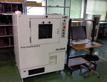 オリテックのマイクロフォーカスX線検査装置