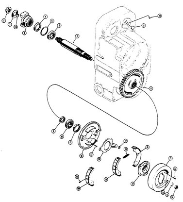 Axle Output Shaft and Parking Brake