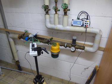 Ermittlung der Sendeimpulse mit HF-Breitbandmessgerät und Datenlogger